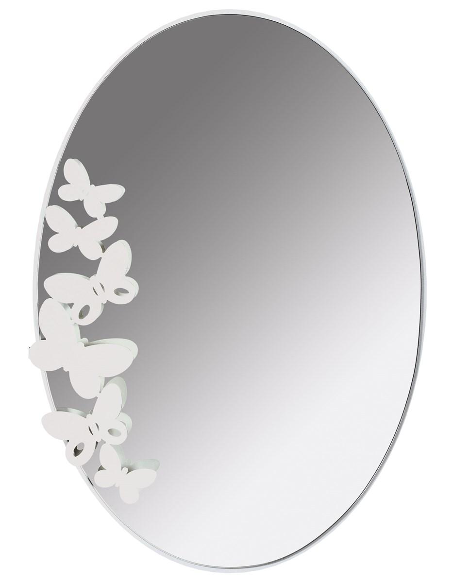 Specchio butterfly ovale arti e mestieri borzik - Specchio ovale per bagno ...