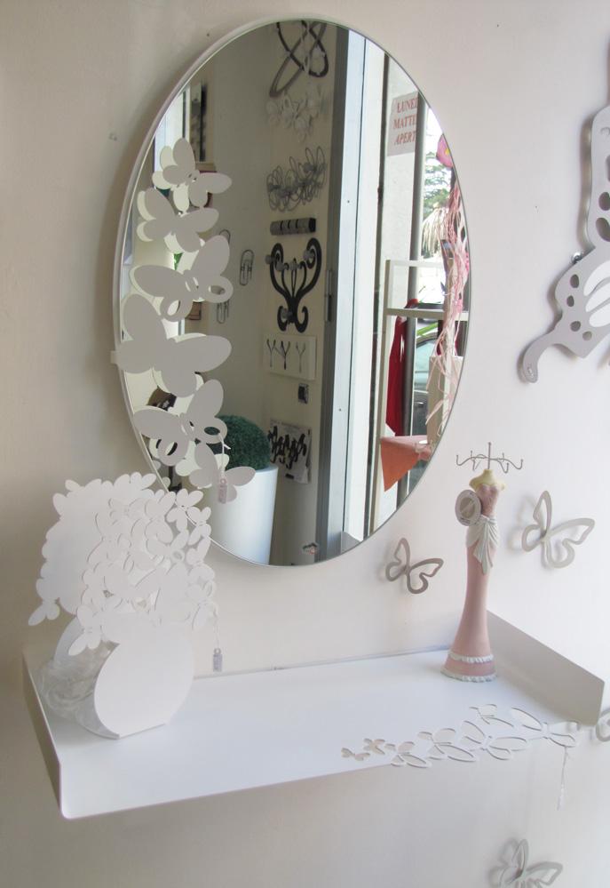Specchio butterfly ovale arti e mestieri borzik - Specchio arti e mestieri ...