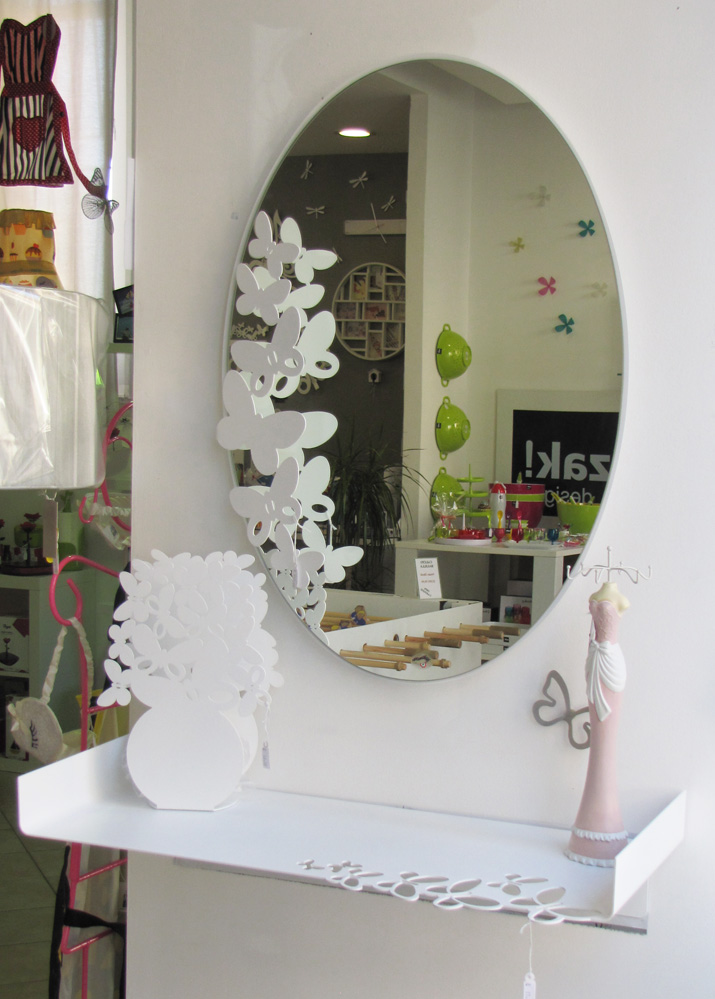Porta Posta Arti E Mestieri.Specchio Butterfly Ovale Arti E Mestieri