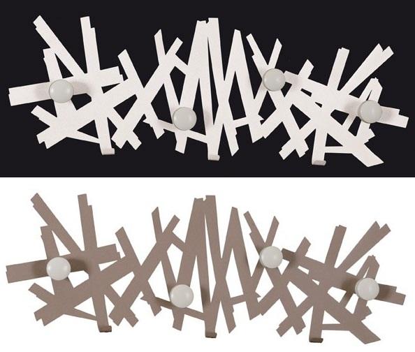 Attaccapanni Da Parete Bianco.Appendiabiti Attaccapanni Parete Twisted Arti E Mestieri