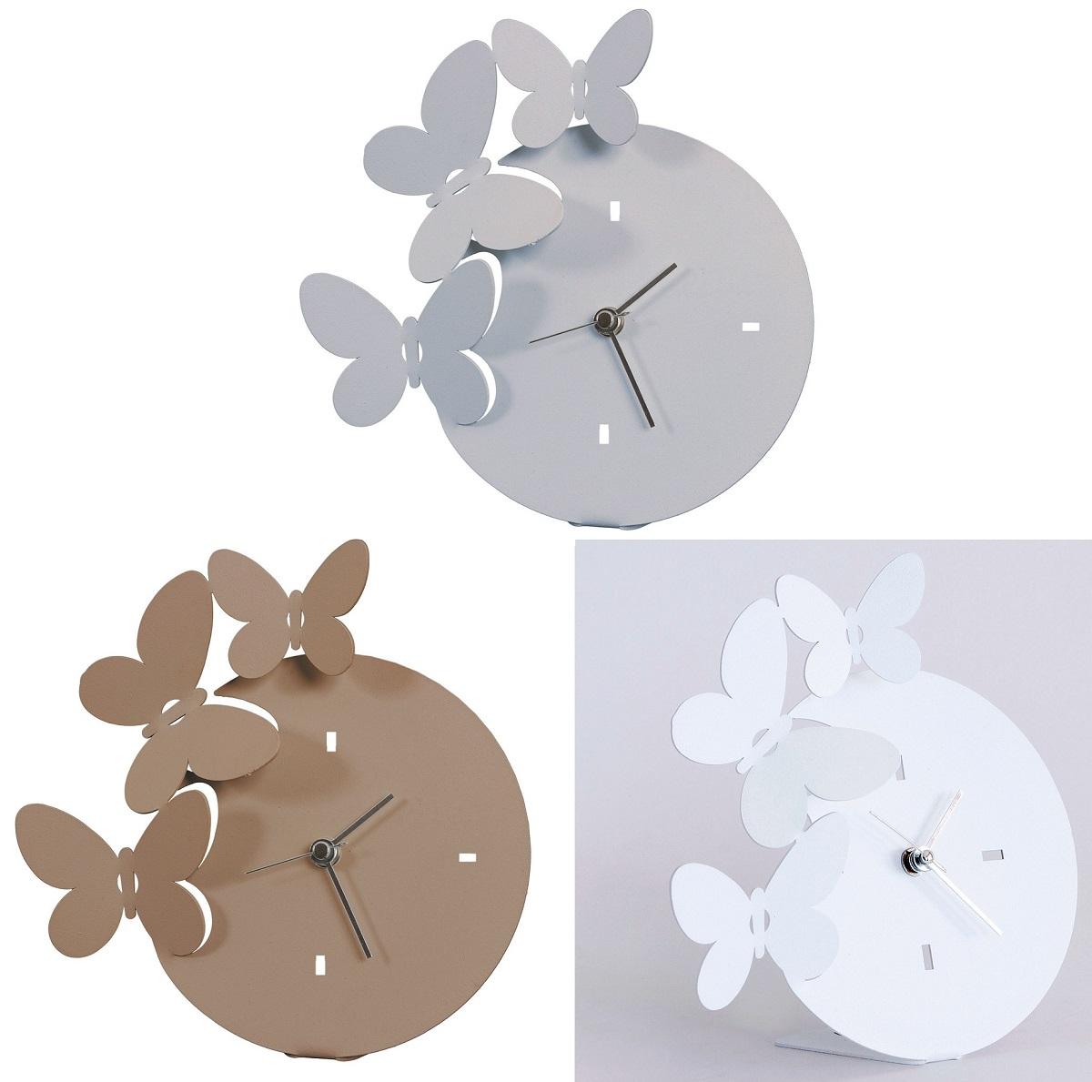 Arti e mestieri orologio farfalle da tavolo bianco for Orologio arti e mestieri amazon