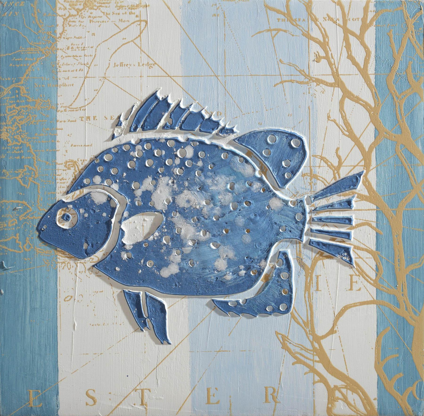 Quadro dipinto a mano pesce bubola e naibo borzik for Quadri bubola e naibo