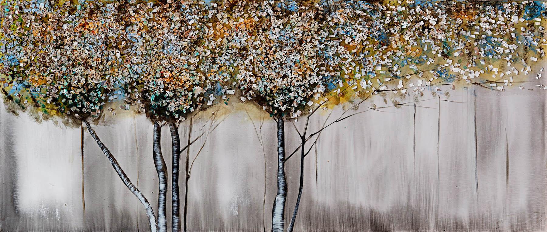 Quadro dipinto a mano alberi bubola e naibo borzik for Quadri bubola e naibo