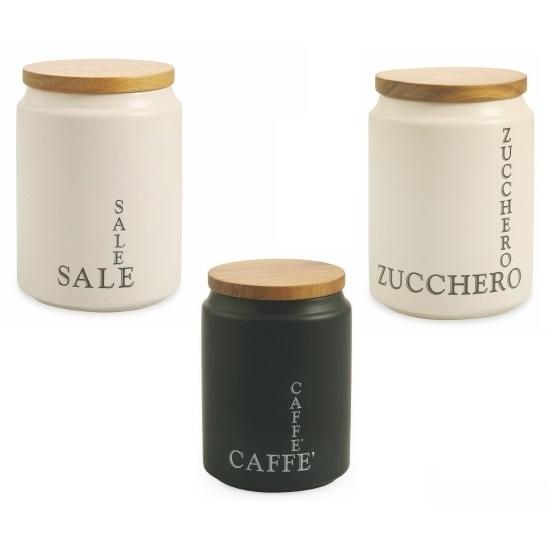 Barattolo con coperchio sale zucchero caffe modern villa for Porta zucchero caffe sale